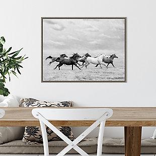 Amanti Art Horse Run I Framed Canvas Art, , rollover