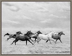 Amanti Art Horse Run I Framed Canvas Art, , large