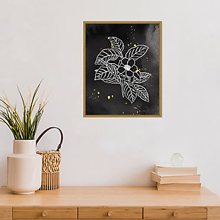 Amanti Art Indigo Blooms I Black Framed Canvas Art, , rollover
