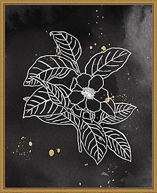 Amanti Art Indigo Blooms I Black Framed Canvas Art, , large