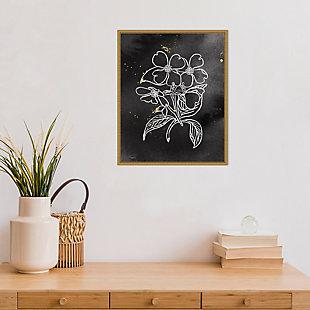 Amanti Art Indigo Blooms III Black Framed Canvas Art, , rollover