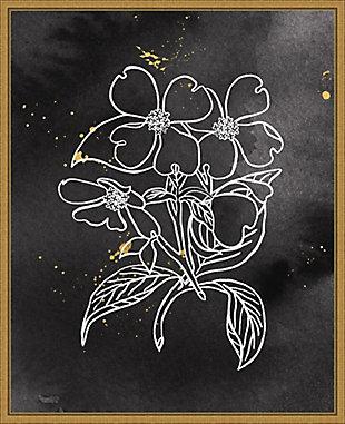 Amanti Art Indigo Blooms III Black Framed Canvas Art, , large