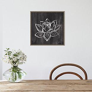 Amanti Art Lotus Gray Framed Canvas Art, , rollover