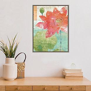 Amanti Art Lotus No. 1 Framed Canvas Art, , rollover