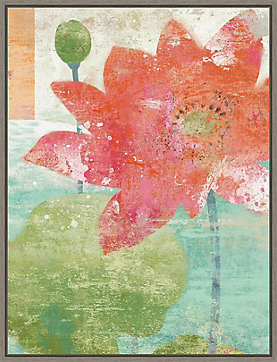 Amanti Art Lotus No. 1 Framed Canvas Art, , large