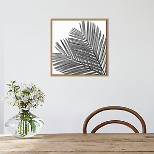 Amanti Art Palm Black and White I Framed Canvas Art, , rollover