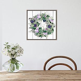 Amanti Art Purple Tulip Wreath II Framed Canvas Art, , rollover