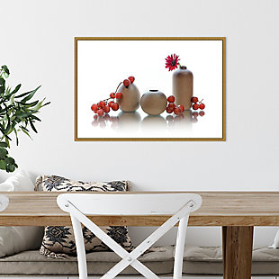 Amanti Art Red Grapes and Jars Still Life Framed Canvas Art, , rollover