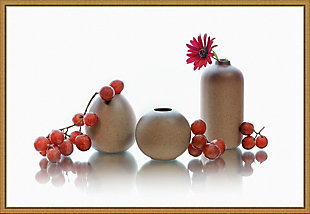 Amanti Art Red Grapes and Jars Still Life Framed Canvas Art, , large