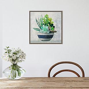 Amanti Art Succulent Still Life II Navy Framed Canvas Art, , rollover