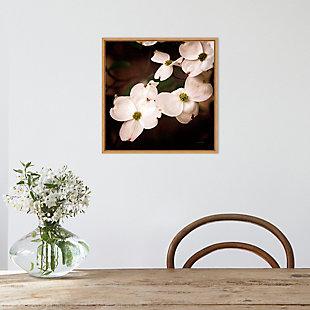 Amanti Art White Dogwood Flowers III Framed Canvas Art, , rollover