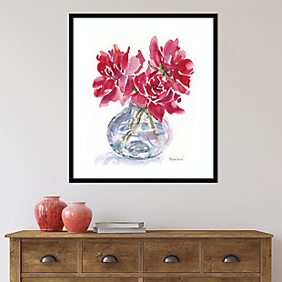 Amanti Art 3 Red Roses by Patricia Shaw Framed Art Print, Black, rollover