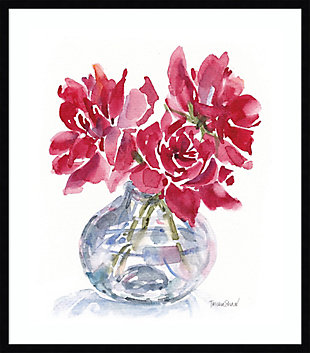 Amanti Art 3 Red Roses by Patricia Shaw Framed Art Print, Black, large