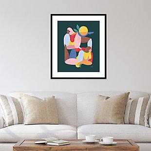 Amanti Art Abstract Figure V by Maggie Stephenson Framed Art Print, Black, rollover