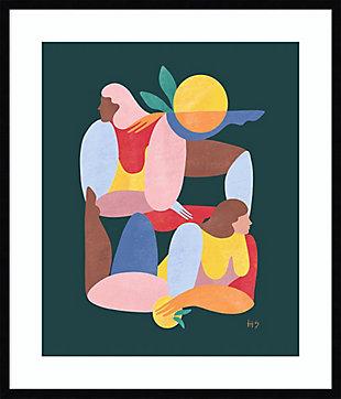 Amanti Art Abstract Figure V by Maggie Stephenson Framed Art Print, Black, large