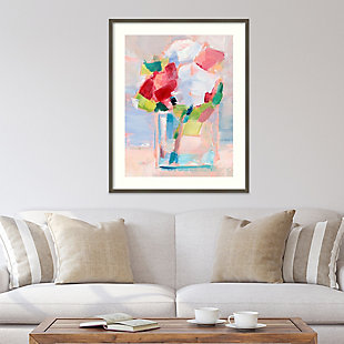 Amanti Art Abstract Flowers in Vase II  Framed Wall Art Print, Gray, rollover