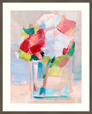 Amanti Art Abstract Flowers in Vase II  Framed Wall Art Print, Gray, large
