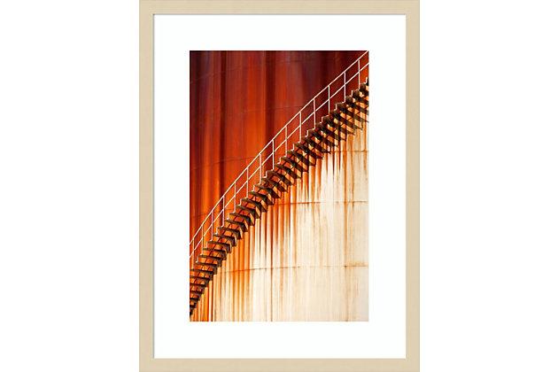 Amanti Art Art stairways  by Marco Zeeman Framed Art Print, Natural, large