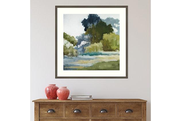 Amanti Art Bean Fields Tall Trees  Framed Wall Art Print, Gray, large