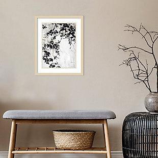 Amanti Art Black Leaves by Design Fabrikken Framed Art Print, , rollover