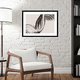 Amanti Art Brushed 2 by Design Fabrikken Framed Art Print, Black, rollover