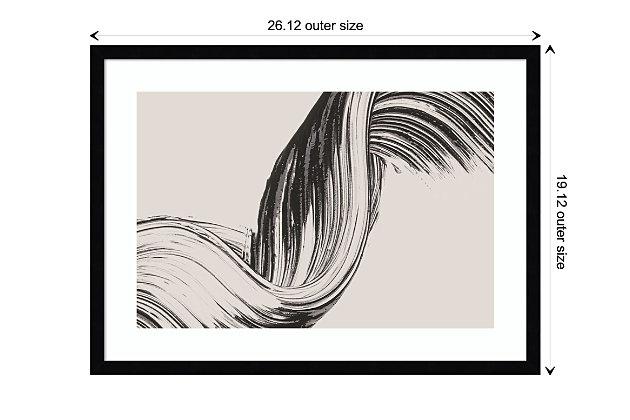 Amanti Art Brushed 2 by Design Fabrikken Framed Art Print, Black, large