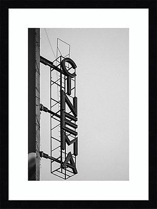 Amanti Art Cinema Marquee Sign by Design Fabrikken Framed Art Print, Black, large