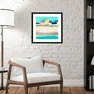Amanti Art Coastal Village I by June Erica Vess Framed Art Print, Black, rollover