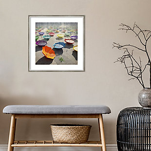Amanti Art Downpour (Umbrella) by Cynthia Decker Framed Art Print, , rollover