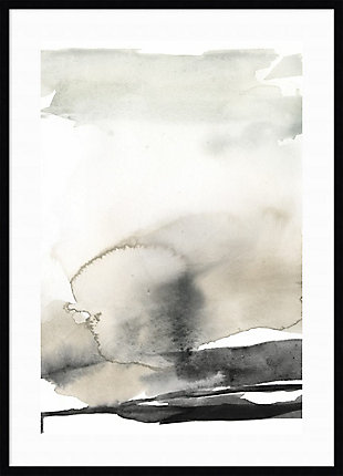 Amanti Art Ebony Horizon Triptych II  Framed Wall Art Print, Black, large