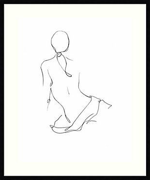Amanti Art Gestural Contour II (Nude) by Ethan Harper Framed Art Print, Black, large
