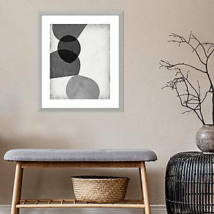 Amanti Art Grey Shapes II by Jennifer Goldberger Framed Art Print, , rollover