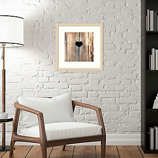 Amanti Art Heart in Wood by Brooke T. Ryan Framed Art Print, , rollover