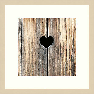 Amanti Art Heart in Wood by Brooke T. Ryan Framed Art Print, , large