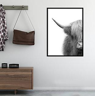 Amanti Art Hey Dude Highland Cow  Framed Wall Art Print, , large