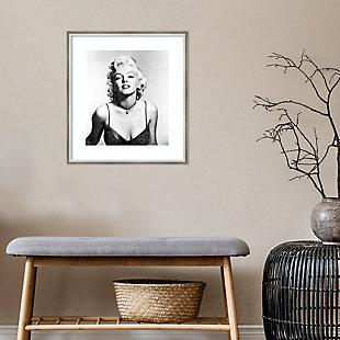Amanti Art Marilyn Monroe BW  Framed Wall Art Print, , rollover