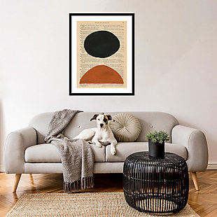 Amanti Art Modern Prose III by W. Stramel Framed Art Print, Black, rollover