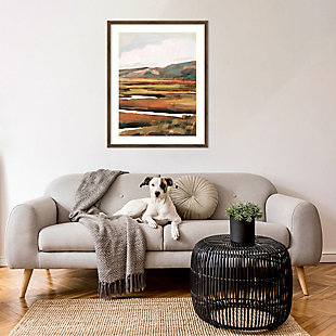 Amanti Art Mountain Field II by Victoria Borges Framed Art Print, Bronze, rollover