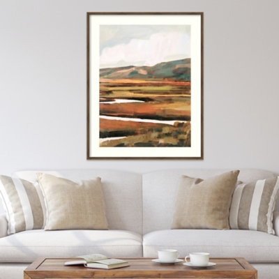 Amanti Art Mountain Field II by Victoria Borges Framed Art Print, Bronze, large