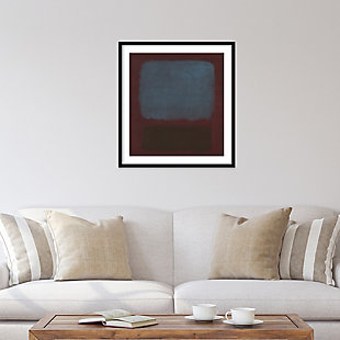 Amanti Art No 37/No 19 (Slate Blue and Brown on Plum) Framed Wall Art, Black, rollover