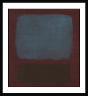 Amanti Art No 37/No 19 (Slate Blue and Brown on Plum) Framed Wall Art, Black, large