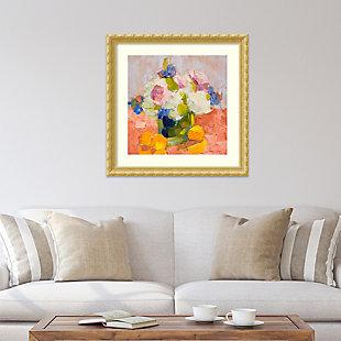 Amanti Art Peonies, Irises and Hydrangea  Framed Wall Art Print, , rollover