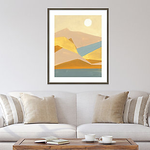 Amanti Art Retro Abstract I Southwest Mountains  Framed Wall Art Print, Gray, rollover