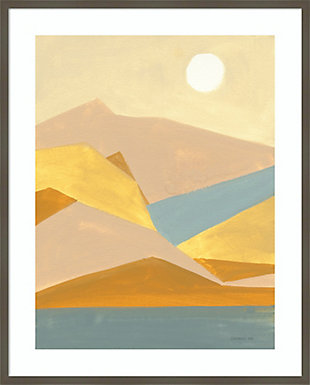 Amanti Art Retro Abstract I Southwest Mountains  Framed Wall Art Print, Gray, large