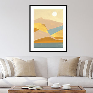 Amanti Art Retro Abstract I Southwest Mountains  Framed Wall Art Print, Black, rollover