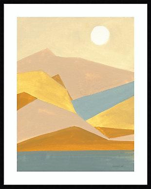 Amanti Art Retro Abstract I Southwest Mountains  Framed Wall Art Print, Black, large