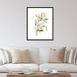 Amanti Art Sage and Sienna Leaves II  Framed Wall Art Print, Black, rollover