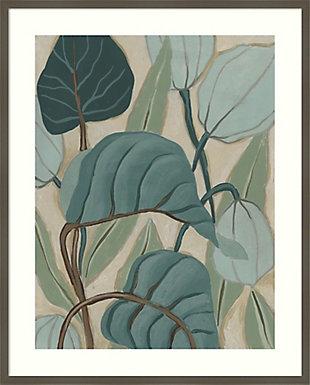 Amanti Art Slate Palms II by June Erica Vess Framed Art Print, Gray, large