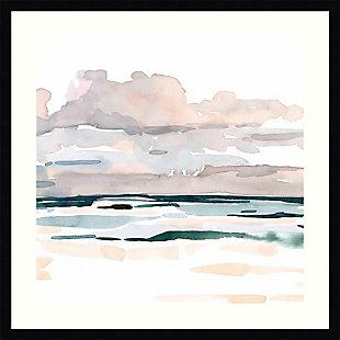 Amanti Art Soft Coastal Abstract I by Emma Scarvey Framed Art Print, Black, large
