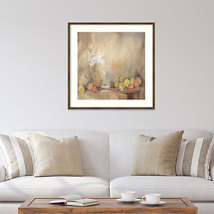 Amanti Art Still Life with Fruit in Study  Framed Wall Art Print, , rollover
